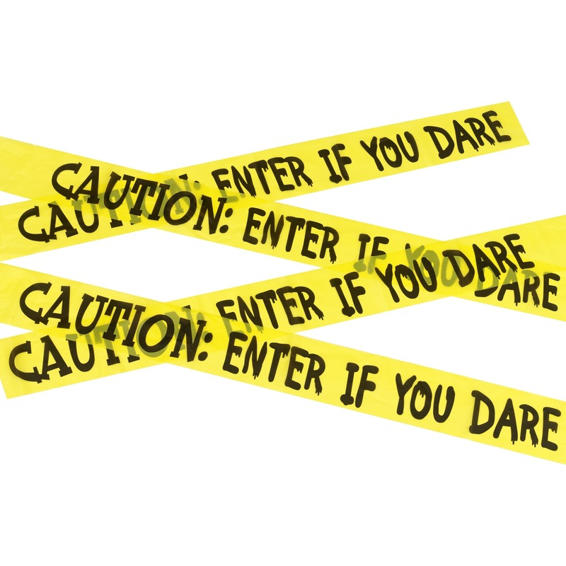 Markeerlint Caution enter if you dare 6 meter