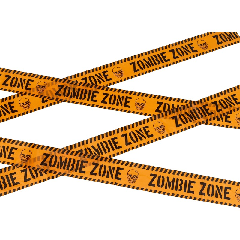 Markeerlint Halloween Zombie zone 6 meter