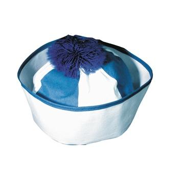 Merkloos Matroos mutsje blauw en wit