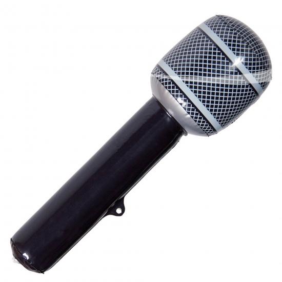 Microfoon opblaasbaar zwart