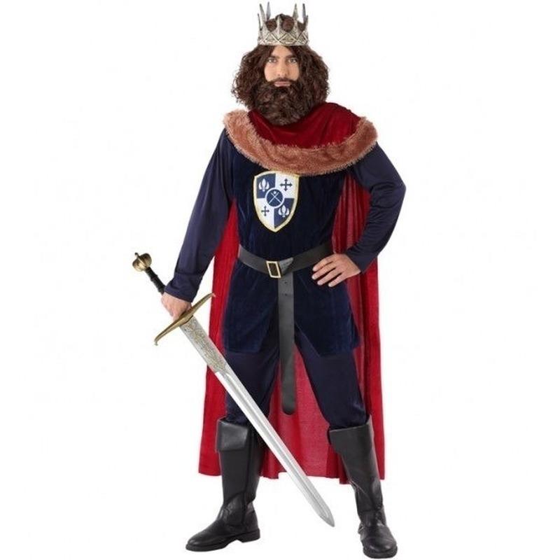 Middeleeuwse koning verkleed kostuum voor heren