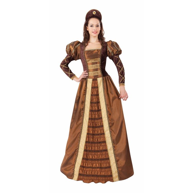 Middeleeuwse prinses/jonkvrouw verkleedjurk voor dames