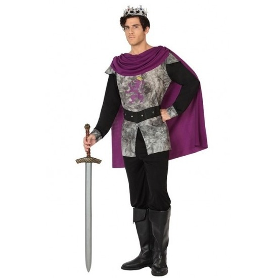 Middeleeuwse ridder/koning verkleed kostuum voor heren