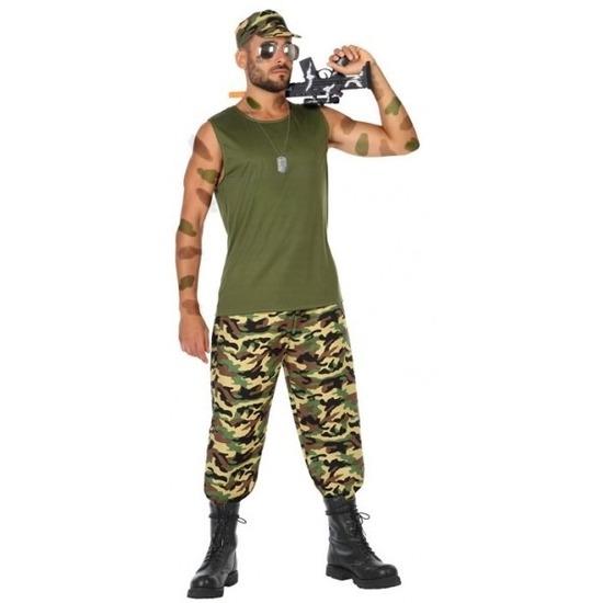 Militair/soldaat verkleed pak/kostuum voor heren
