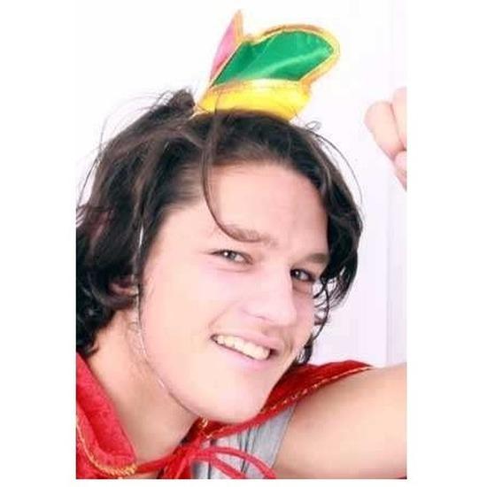 Merkloos Mini prinsenmuts rood/geel/groen
