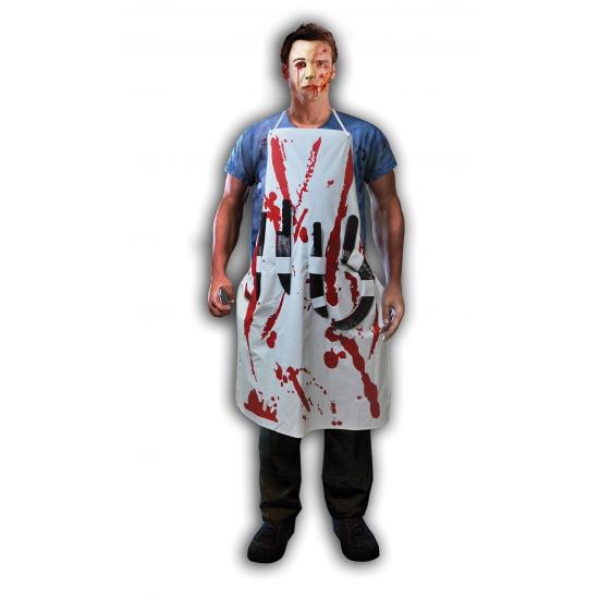 Moordenaars schort met bloed en messen