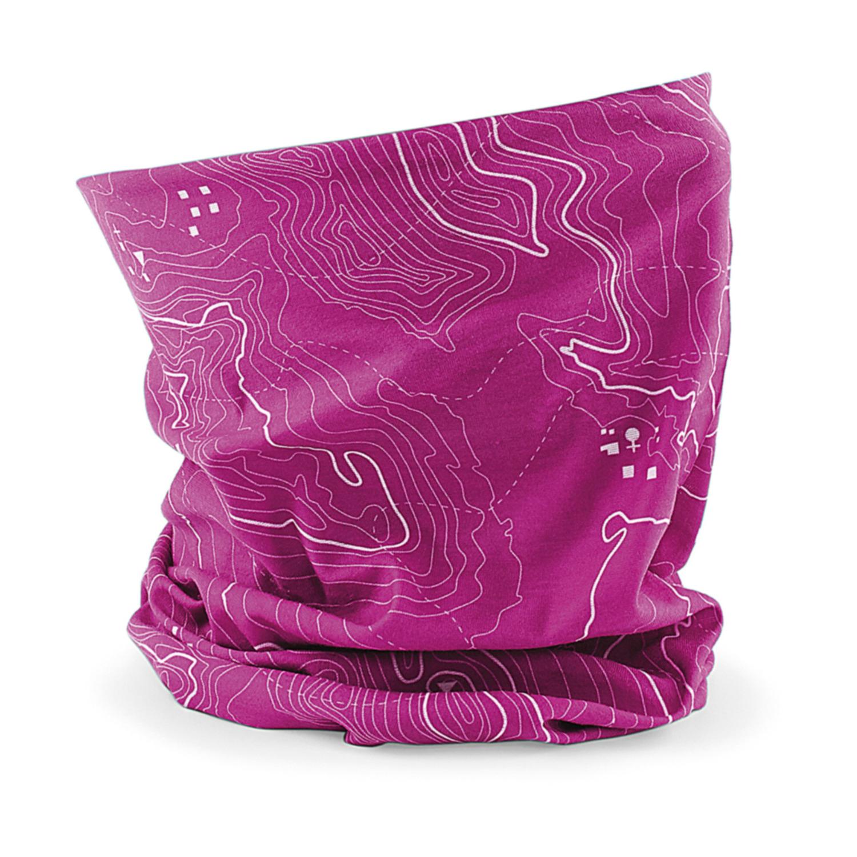 Multifunctionele morf sjaal roze met contour print voor volwassen