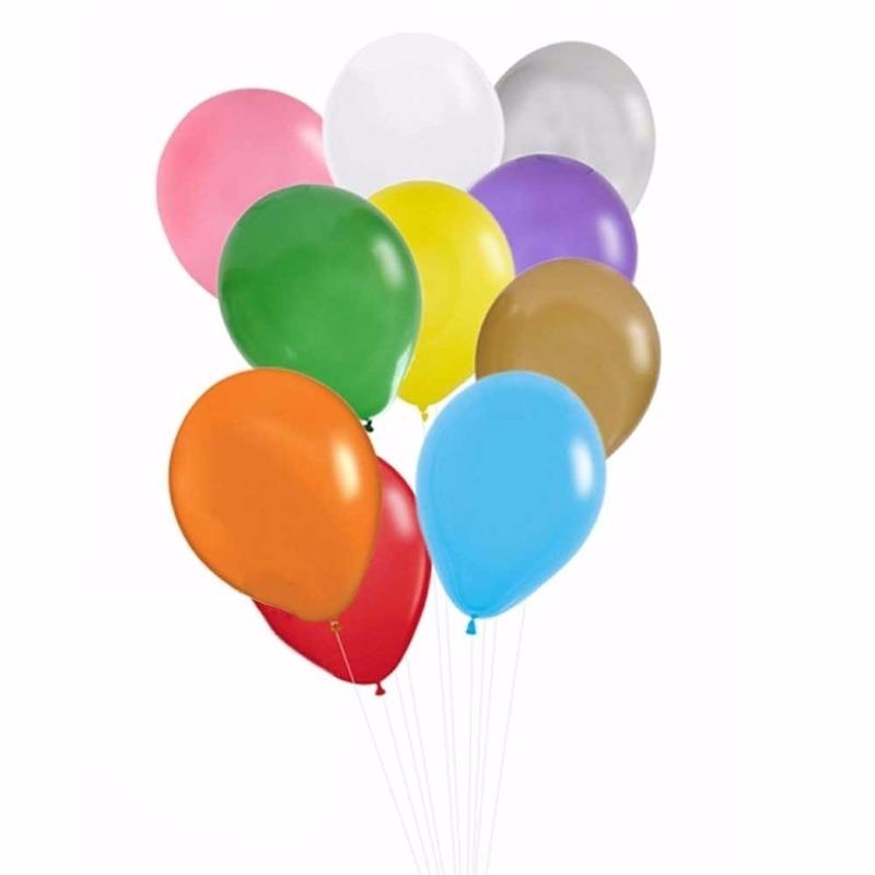 Multikleuren ballonnen 50 stuks