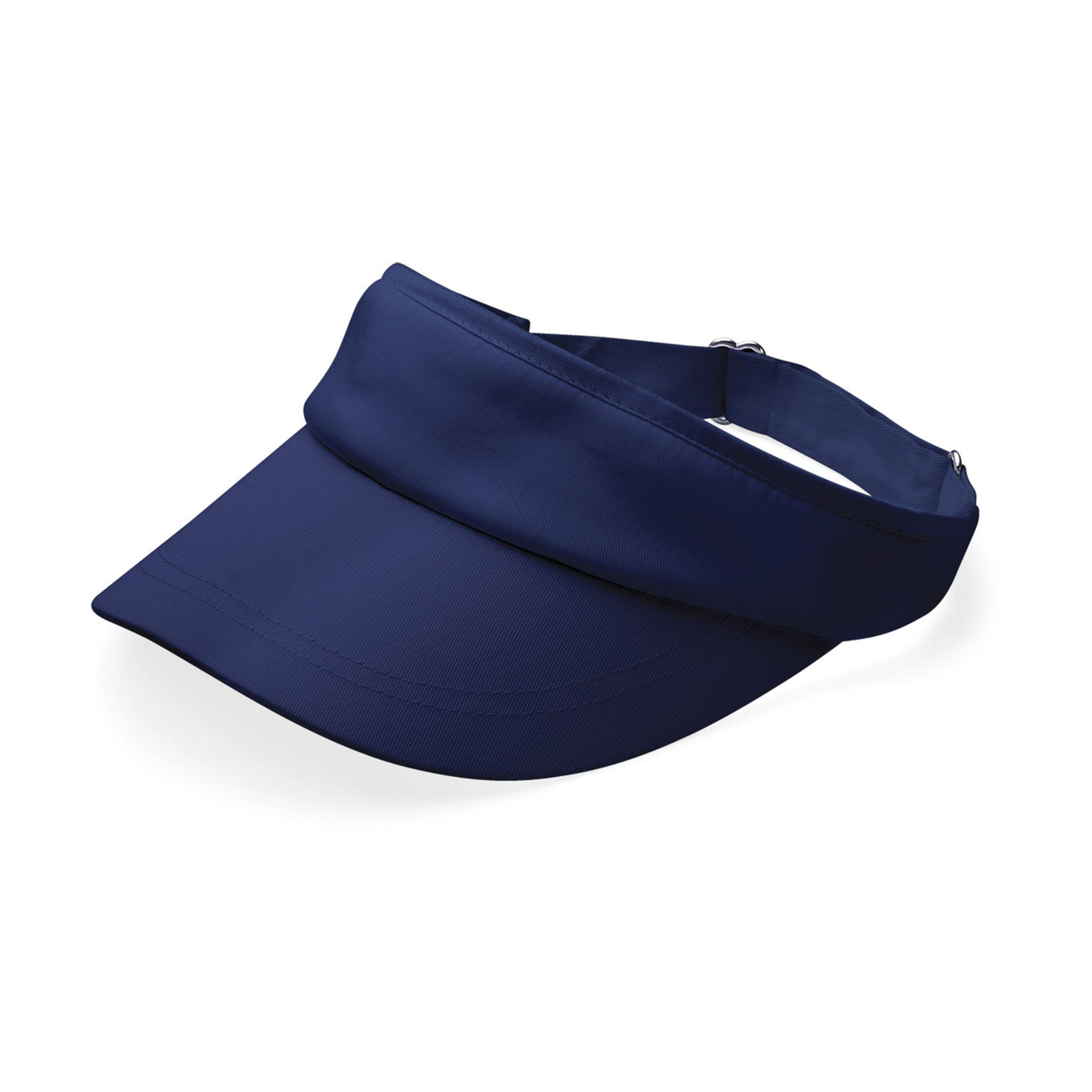 Navy blauwe sportieve zonneklep voor volwassenen