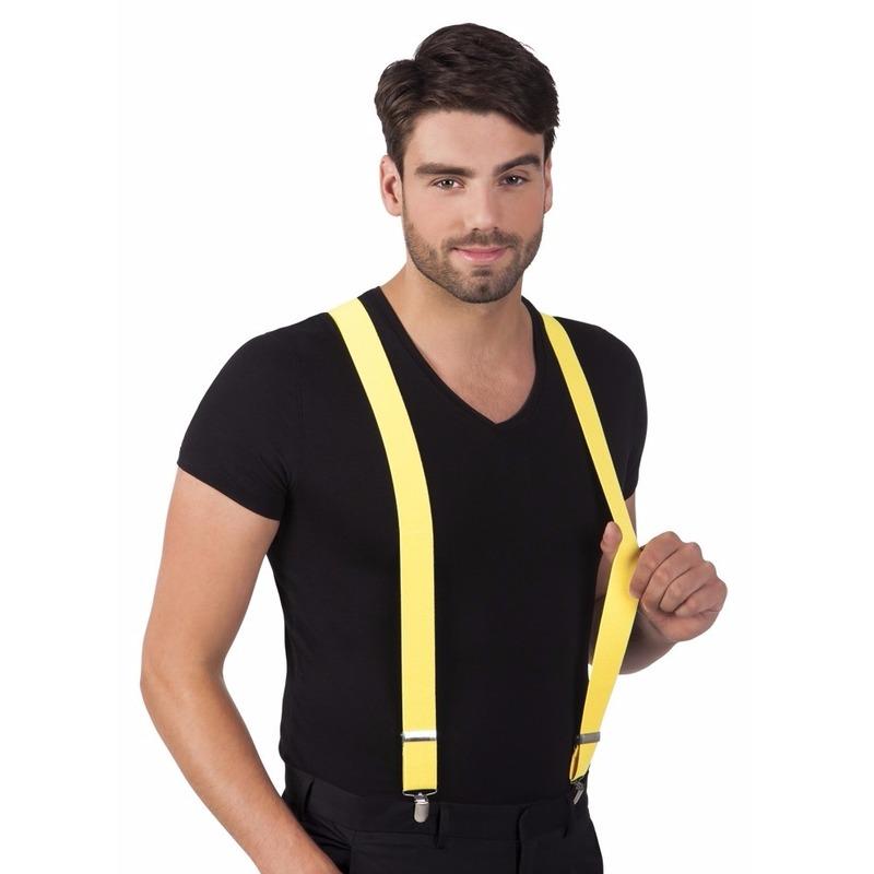 Neon gele bretels voor volwassenen