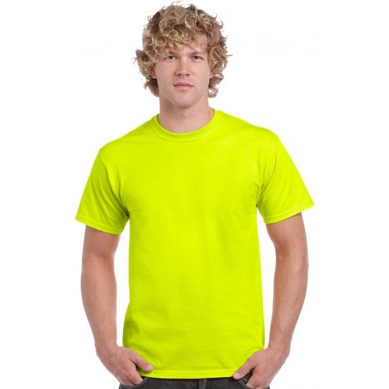 Neon t-shirts geel voor mannen