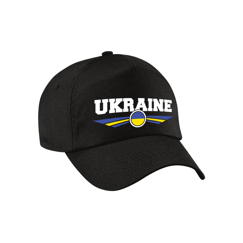 Oekraine - Ukraine landen pet - baseball cap zwart kinderen