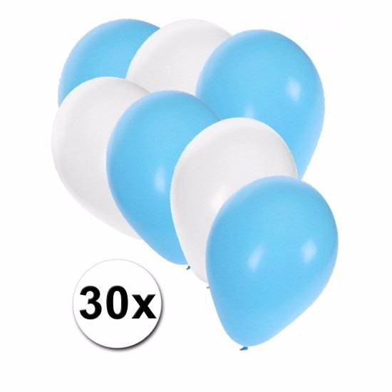 Oktoberfest ballonnen 30 stuks blauw/wit