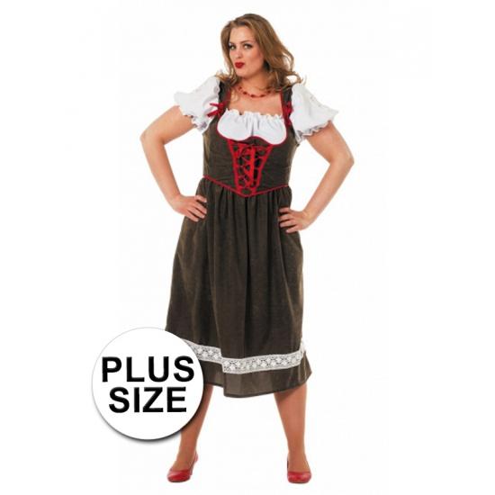 Oktoberfest jurk in grotere maten