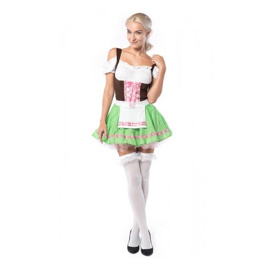 Oktoberfest jurkje roze met groen
