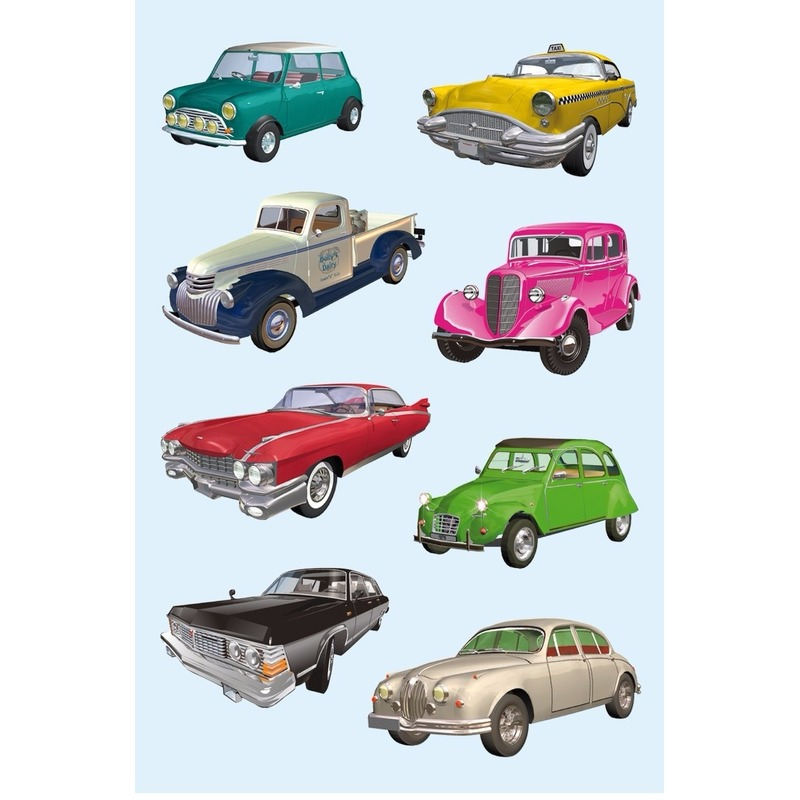 Oldtimers auto stickers 3 vellen