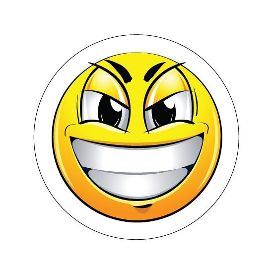 Ondeugende Smiley sticker type 7