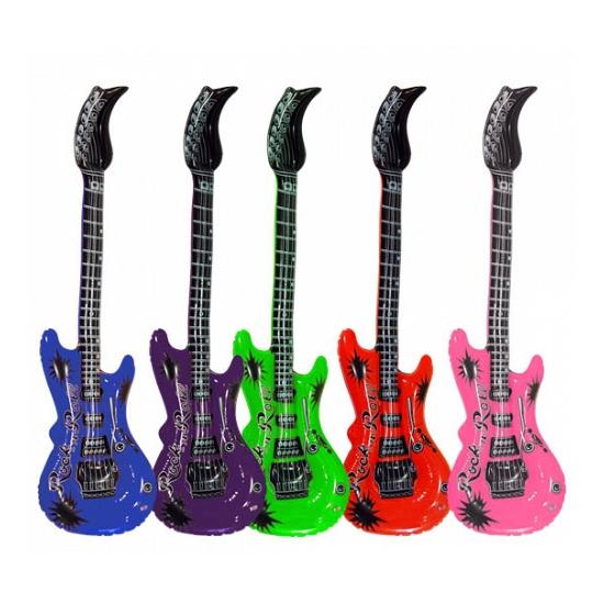 Opblaasbare gitaren blauw 55 cm