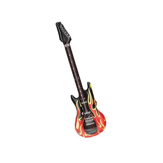 Opblaasbare gitaren met vlammen 106 cm