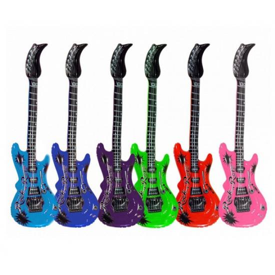 Opblaasbare gitaren roze 55 cm
