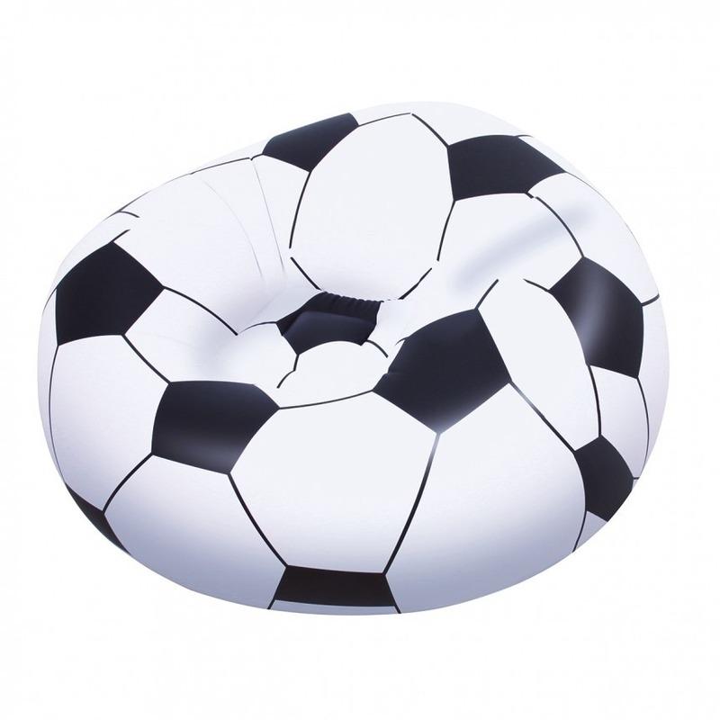 Opblaasbare voetbal stoel 114 cm