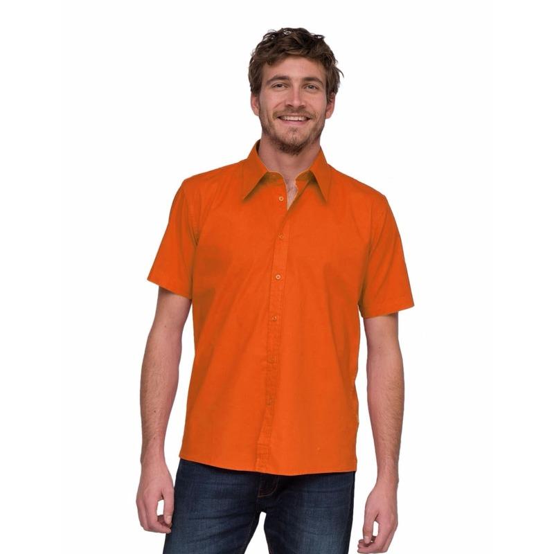 Oranje blouse Lemon&Soda met korte mouwen oranje