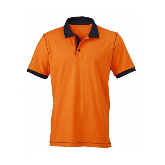 Oranje dames poloshirts met korte mouwen