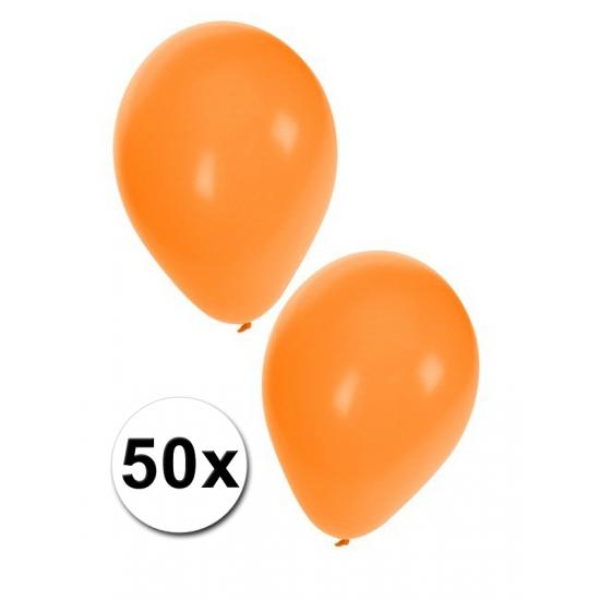 Oranje decoratie ballonnen 50x