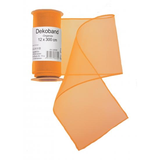 Oranje gaas stoffen 12 x 300 cm