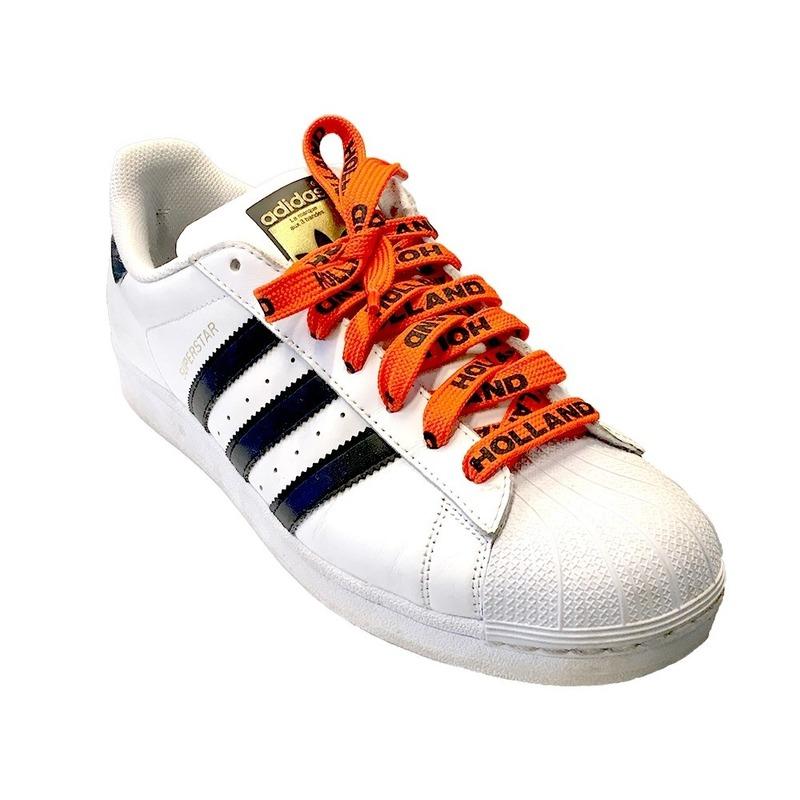 Oranje Holland supporter schoenveters
