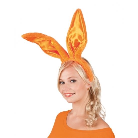 Oranje konijn/haas oren voor volwassenen