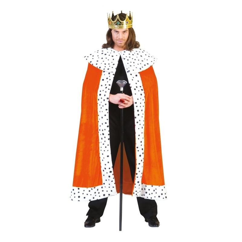 Merkloos Oranje koning feestkleding van pluche
