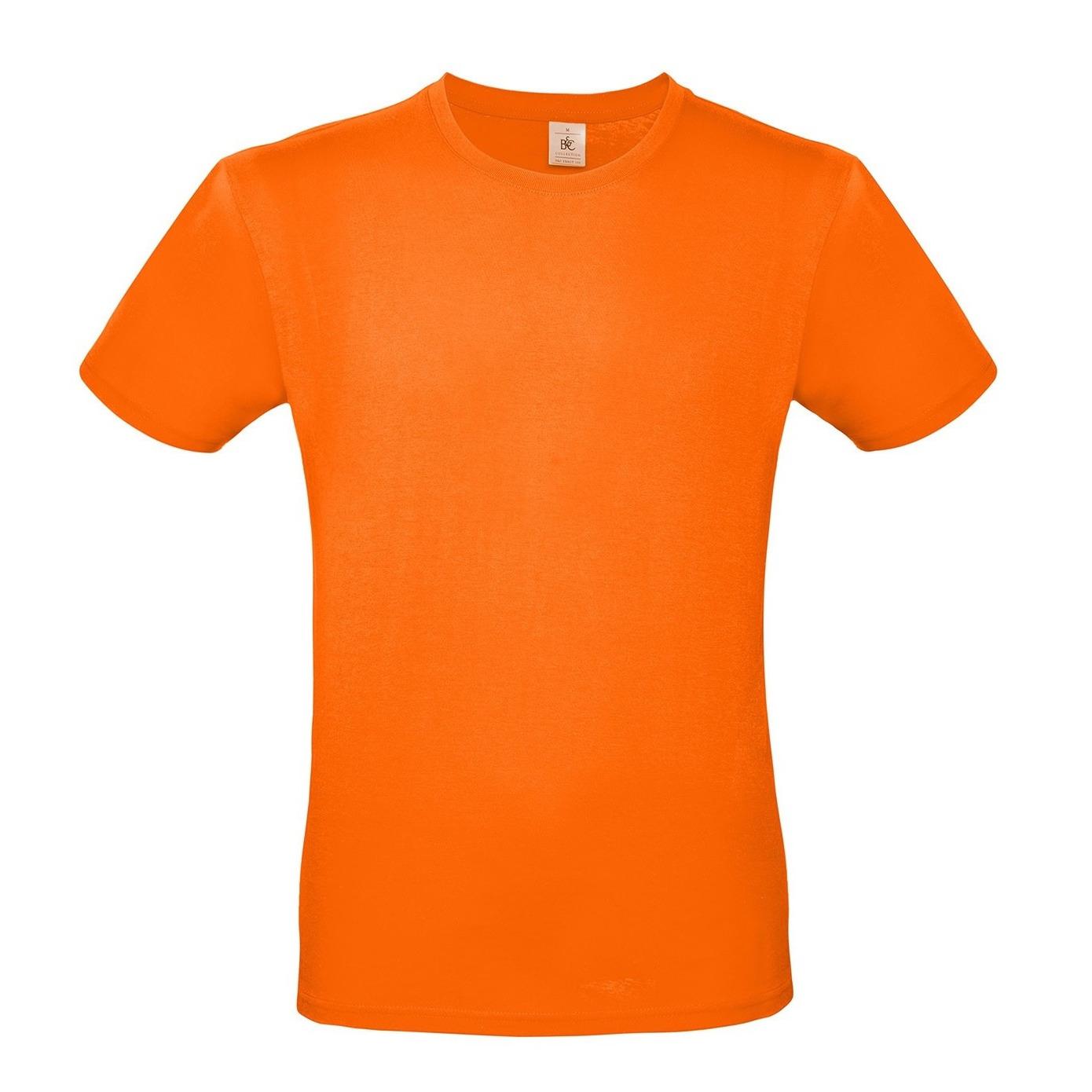 Oranje Koningsdag of supporter t-shirt met ronde hals voor heren