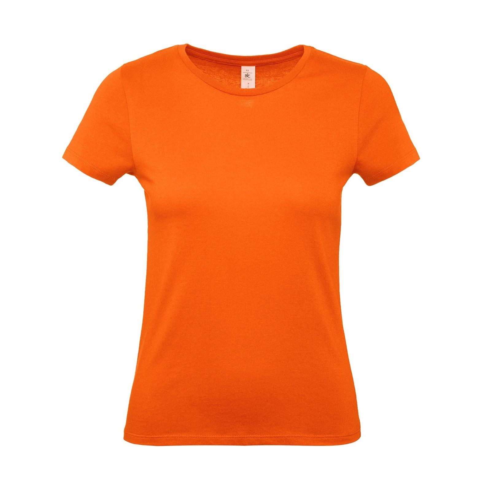 Oranje Koningsdag of supporter t-shirts met ronde hals voor dames