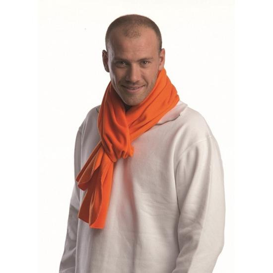 Oranje lange fleece sjaal