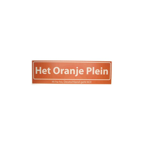 Oranje straatbord Hi Ha Ho Deutschland geht K.O