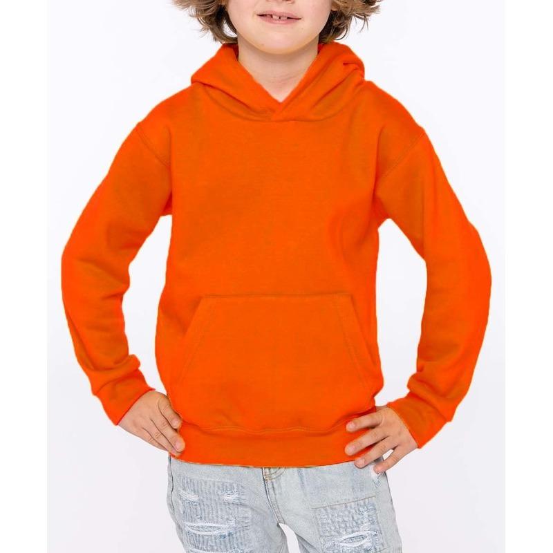 Oranje sweater/trui hoodie voor meisjes