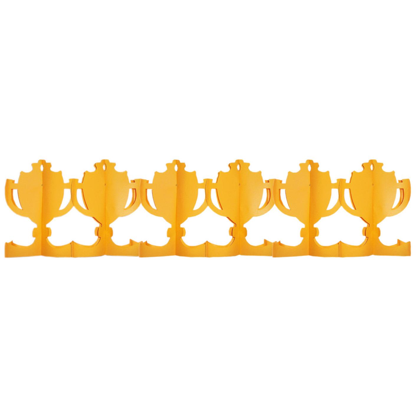 Oranje voetbal cup slinger 4 meter