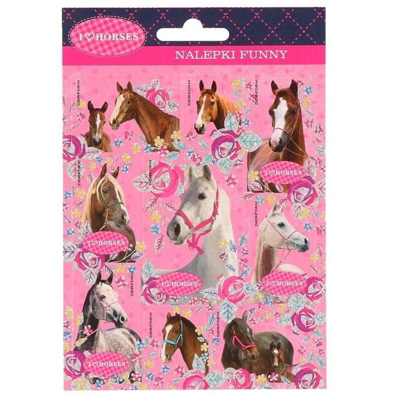 Paarden stickers 16 stuks set 5
