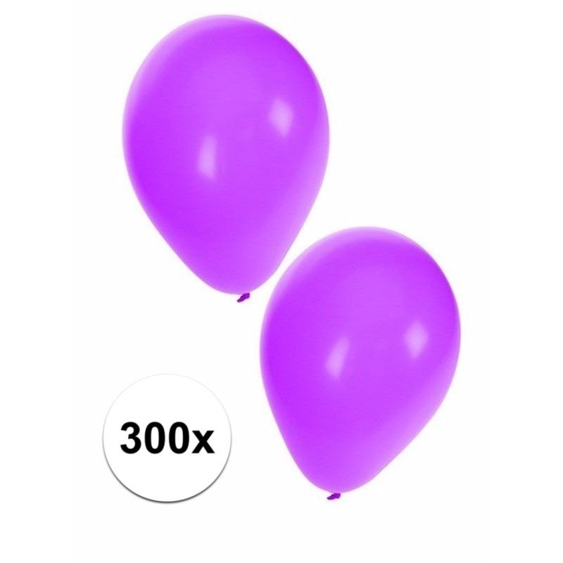 Paarse ballonnen 300 stuks