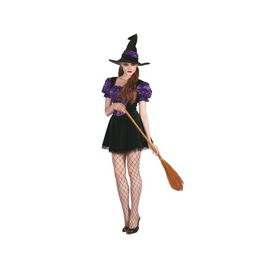 Paarse heksenjurkje inclusief hoed