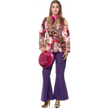 Paarse hippie broek voor dames