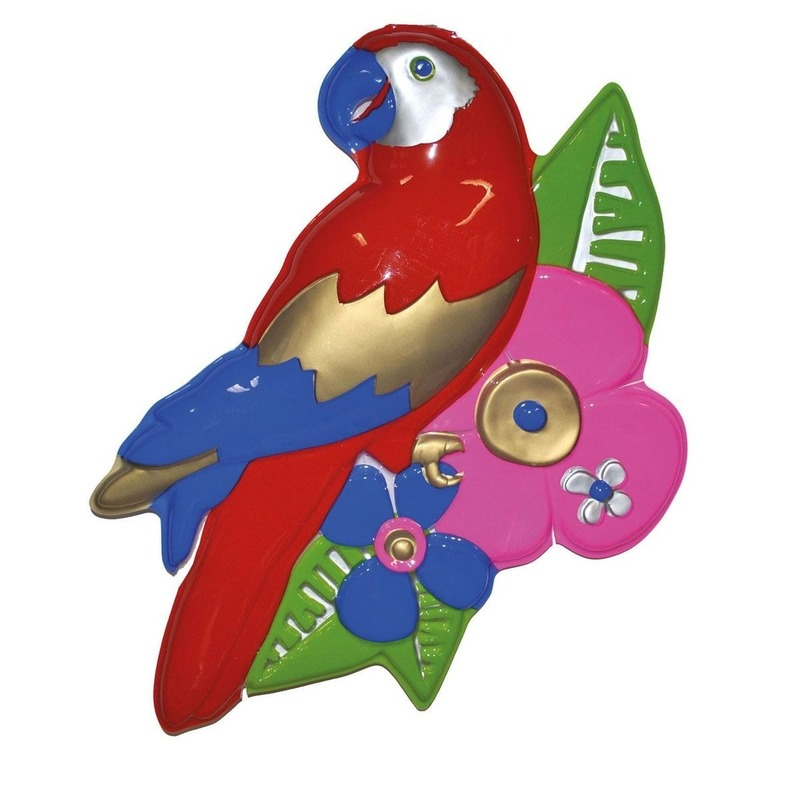 Papegaai wand decoratie 60cm