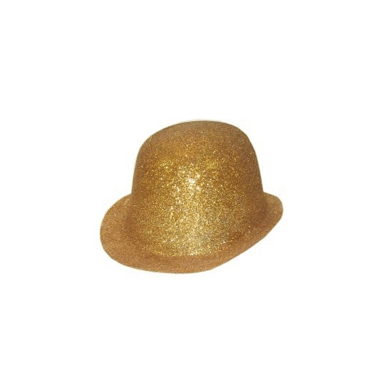 Merkloos Party bolhoedje met gouden glitters