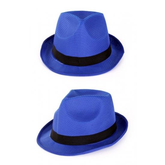 Merkloos Party gleufhoedjes blauw