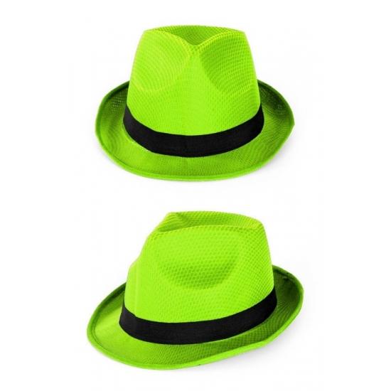 Merkloos Party gleufhoedjes groen