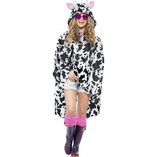 Party ponchos met koeien print