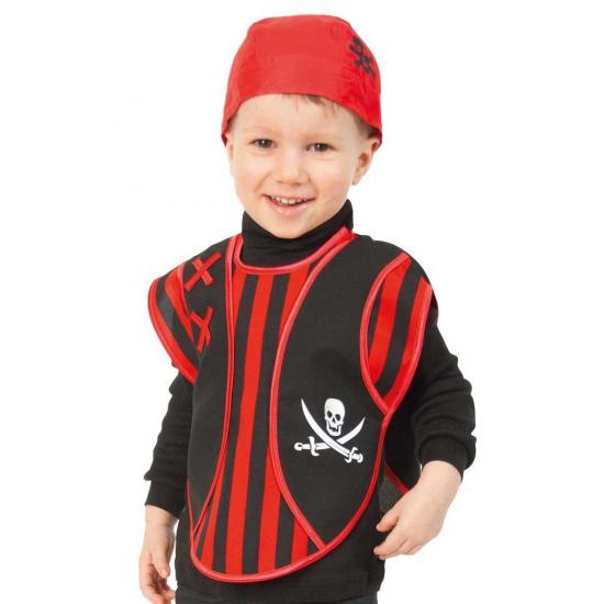 Peuter verkleed poncho piraat/piraten