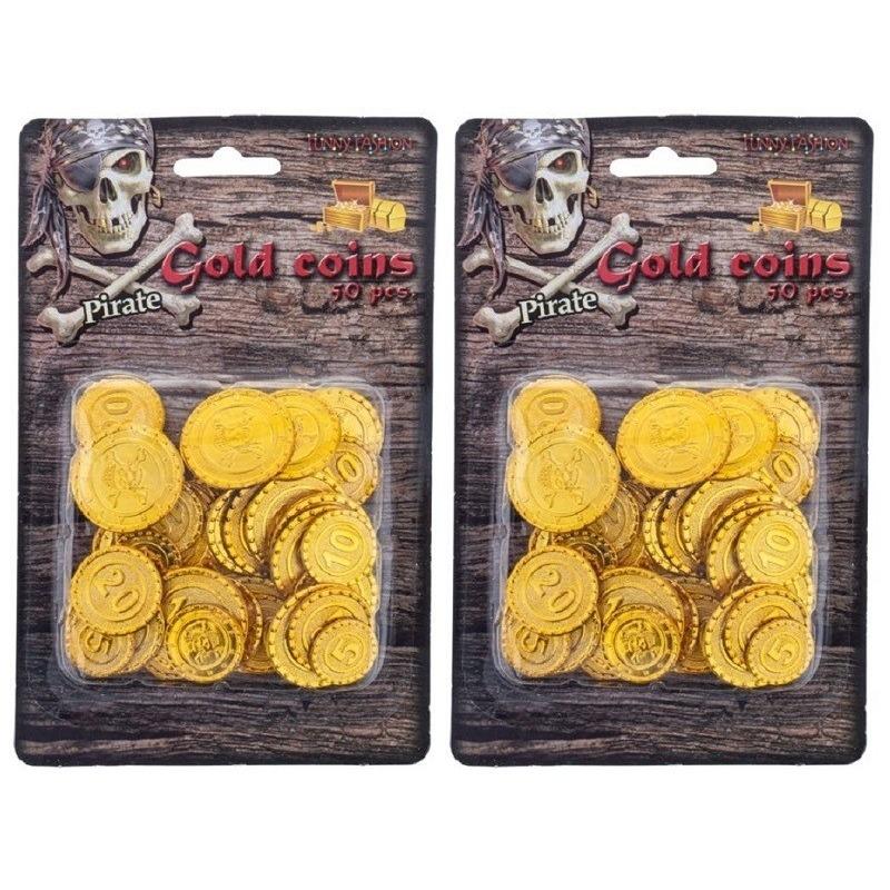 Piraat munten goud 100 stuks