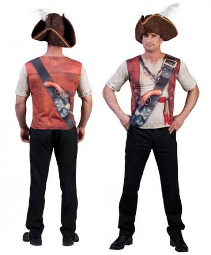 Piraat print t-shirt 3D